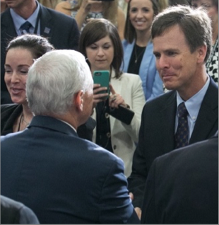 Tim Clark meeting VP Mike Pence